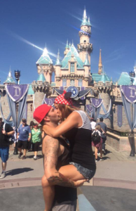Tasha Wagner and David Harris Kissing Disneyland png 2