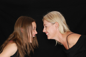 laughter-Endorphins Mom and Daughter gossip